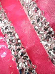 0096 Crystal Clear Rhinestone Jewel Beaded Trim