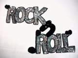 0172 Rock -N- Roll Fifties Sequin Beaded Applique 14""