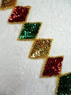 0271 Christmas Diamond Sequin Beaded Trim