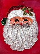 Sequin Santa Claus Applique Face Christmas Decoration Holiday Beaded Patch Craft Supplies 8