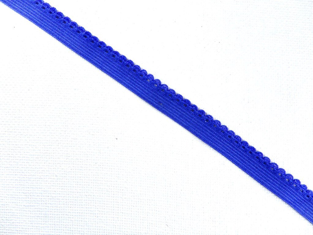 BL140  Blue Elastic Sewing Craft Trim 1/4""