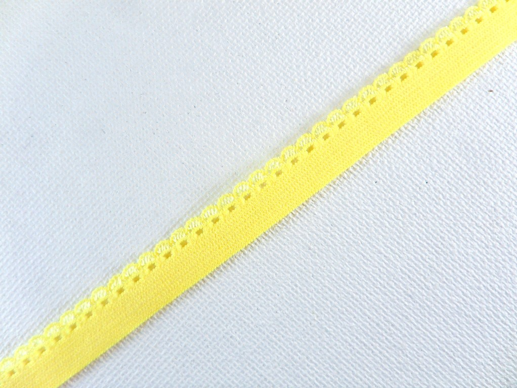 BL140 Yellow Elastic Sewing Craft Trim 1/4""
