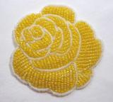 Yellow Rose  Beaded Applique  k8740