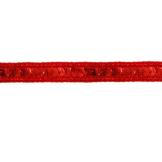 E6172  Holographic Red Sequin Sewing Trim