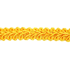 E1901-YLG- Yellow Gold Gimp Sewing Upholstery Trim 1/2""