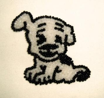 Betty Boop's Dog Pudgy Sequin Beaded Appliques 0189