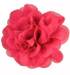 """E6042 Fuchsia Floral Brooch Clip Applique 5"""""""