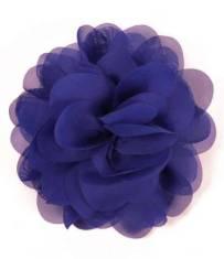 "E6042 Royal Blue Floral Brooch Clip Applique 5"""