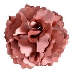 "E6049 Mauve Silky Floral Brooch Hair Clip Applique 3.75"""