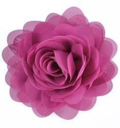 """E6042 Bright Purple Floral Brooch Clip Applique 5"""""""