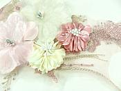 "3D Applique Venice Lace Floral Sewing Clothing Patch 11"" GB923"