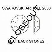 FS42SS Crystal Clear Swarovski Austrian Rhinestone Flat-Back #2000 (one piece)