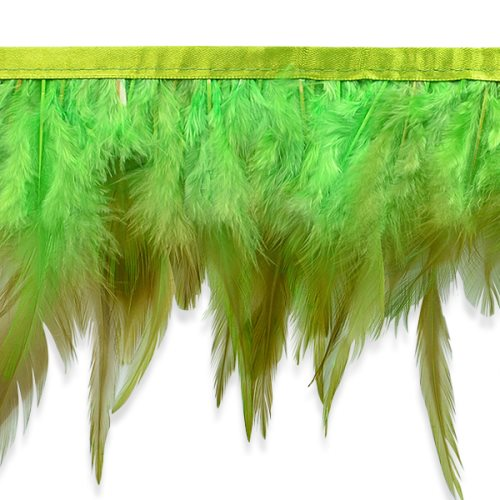E6984 Lime Green Jaylo Feather Fringe Trim 5.5""