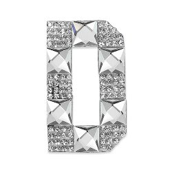 E1327D  Rhinestone Letter Applique D Iron On Patch Crystal 2.5""
