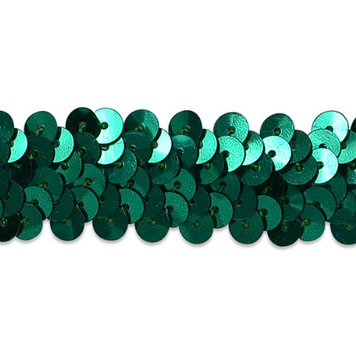 E4412  Teal Sequin Stretch 2 Row Sewing Trim 1""
