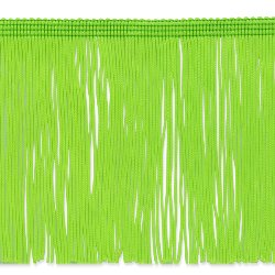 E4428 Lime Chainette Fringe Trim 6""