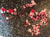 FaceBook Sale #4 Two Piece Large Floral Cluster Appliques