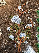 FaceBook Sale #2 Embroidered Blue Floral Applique Large