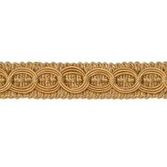 """E4437 Woven Braid Circle Gold Gimp Sewing Upholstery Trim 3/4"""""""