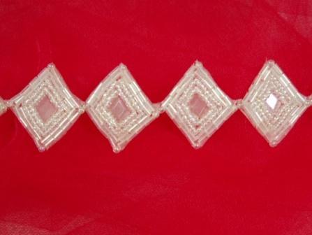 T8509  Crystal AB Diamond Beaded Trim