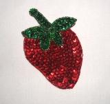 "Strawberry  3.5"" Sequin Beaded Applique K8865"