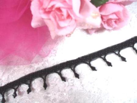 T8870 Black Beaded Fringe Sewing Trim