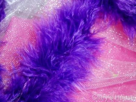 "E3760  Purple Marabou Feather Fur Sewing Trim 2"""