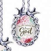 Scripture Necklace The Lord Is Compassionate And Gracious Dove Pendant Inspirational Christian Jewelry w/ Silver Chain JW138