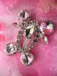 ACT/TS116/B Funny Little Man Crystal Clear Rhinestone Embellishment 2.25""