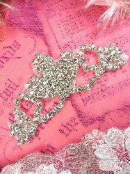 """ACT/XR243/A Rhinestone Applique Crystal Silver Elegant Tiara 3.75"""""""