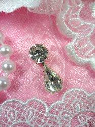 "ACT/XR281 Petite Rhinestone Tear Drop Dangles Glass Crystal Embellishment  .75"""