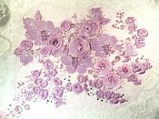 Embroidered 3D Applique Lavender Floral Cluster  (ACT/DH77A)