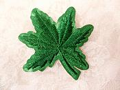 "Embroidered Leaf Applique Green Clothing Patch Craft Motif 2"" (BL116)"