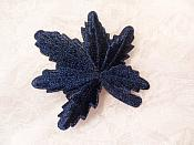 "Embroidered Leaf Applique Navy Clothing Patch Craft Motif 2"" (BL116)"