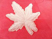 "Embroidered Leaf Applique White Clothing Patch Craft Motif 2"" (BL116)"