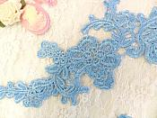 "Embroidered Floral Applique Mirror Pair Denim Clothing Patch Craft Motif 13.5"" (BL98X)"