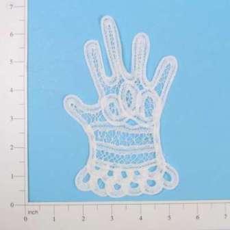 """E5271  Ladies Glove Battenburg Lace Applique 6.25"""""""