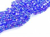 """Beaded Applique Purple AB Dance Motif Clothing Sewing Patch 4"""" JB107"""