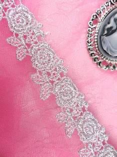 "Metallic Gold Rose Floral Venise Venice Lace Victorian Sewing Trim 1/""  C112"