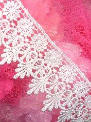 "C137 Elegant White Victorian Venice Lace Trim  2.75"""