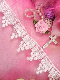 """C503 White Venice Lace Grapevine Grape Pod Sewing Trim 1.25"""""""