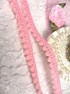 C70 Pink Mini Pom Pom Sewing Trim