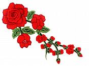 """3D Applique Embroidered Red Rose Floral Craft Patch Clothing Motif 12""""  CQ3"""
