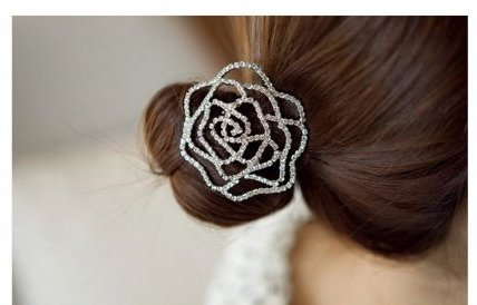 GB74 Silver Rhinestone Crystal Hair band