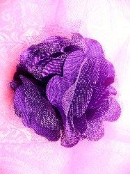 "DE4 Dark Purple Satin Rose Applique 3"""
