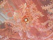 Embroidered 3D Fabric Coral Floral Design (Can be Cut for Appliques) (DH114)