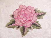 3D Embroidered Applique Pink Single Floral Sewing Supply Clothing Patch  DH122