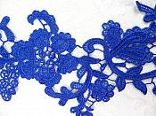 """Embroidered Lace Appliques Blue Floral Venice Lace Mirror Pair 13"""" (DH88X)"""