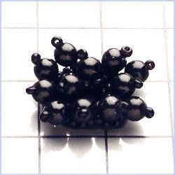 "FS837 Black Applique Beaded 1/2"""