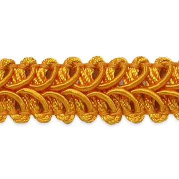 """E1901  Yellow Gold Gimp Sewing Upholstery Trim 1/2"""""""